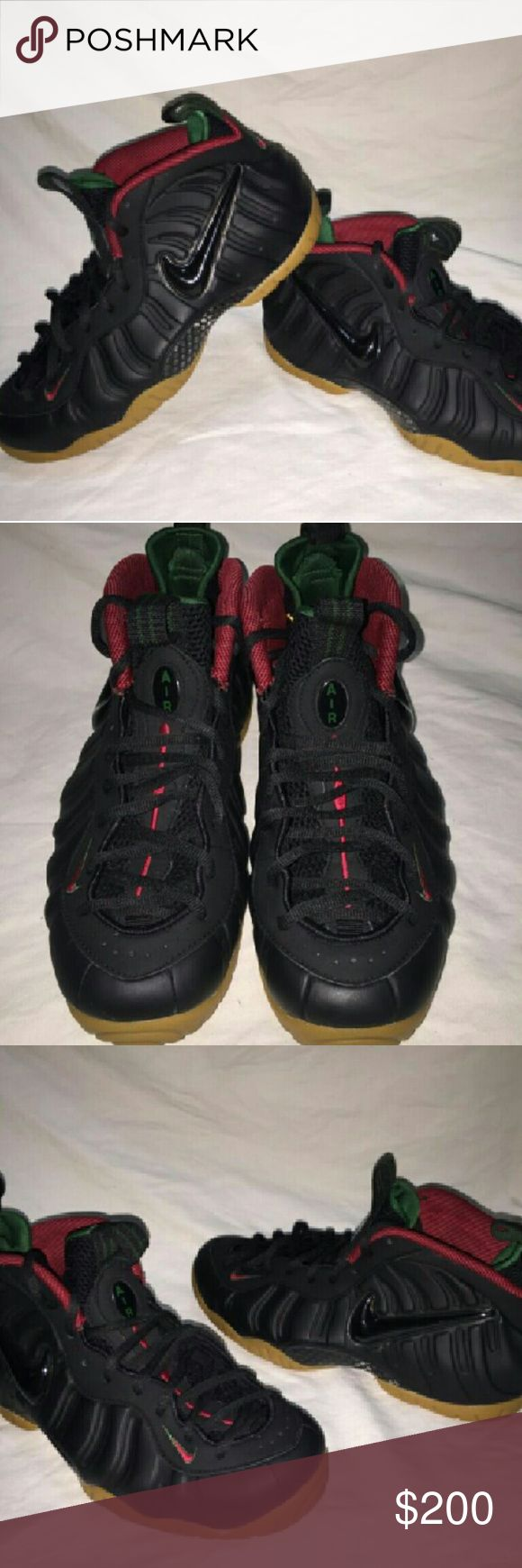 NIKE AIR FOAMPOSITE PRO BLACK GORGE GREEN RED? Brand new deadstock Nike Shoes Sneakers