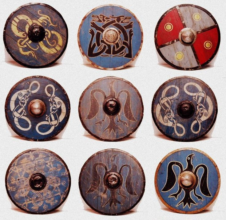 Viking Shields Scandinavian Symbols