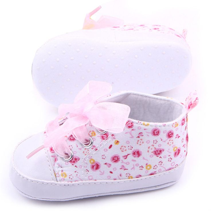 Hot Sales Baby Shoes Girls Cotton Floral Infant Soft Sole Baby First Walker Toddler Shoes