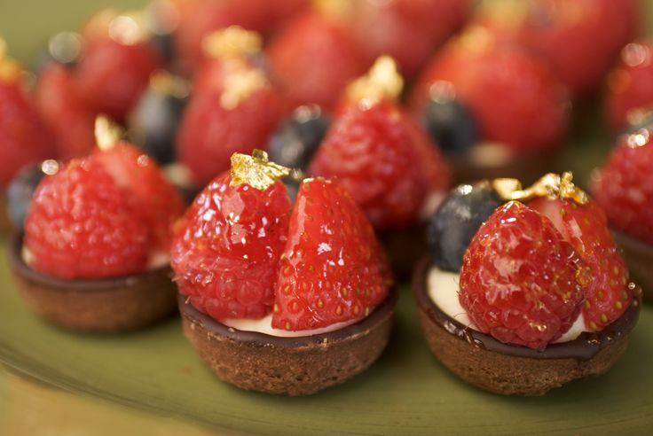 Enjoy dining in Melbourne with these berry tarts from Collins Kitchen!