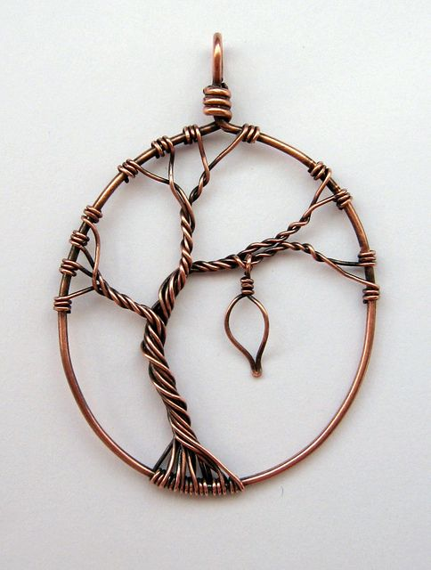 https://flic.kr/p/844M4B | The Last Leaf On The Tree (commission) | Commissioned for a present.  Oxidised and polished copper wire, with a dangling leaf.  I wasn't sure what to hang from the branch, so hubby suggested the last leaf on the tree.
