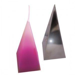 Molde para hacer velas de Pirámide 8x8x21 cm