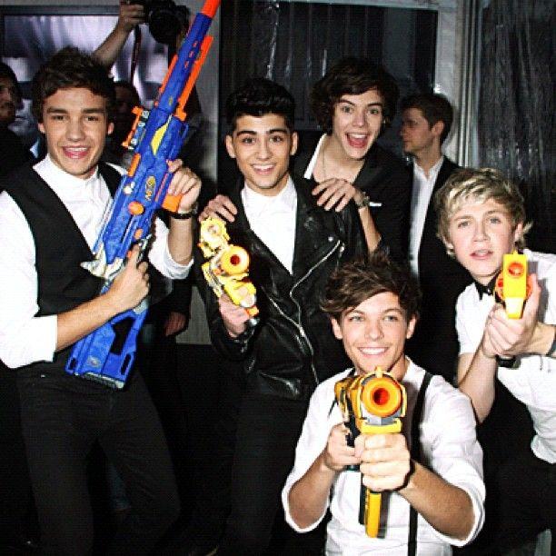 One Direction One Direction One DirectionNerf Guns, Men In Black, Brought Nerf, Boys, Red Carpets, Daddy Direction, One Direction, Big Guns, Onedirection