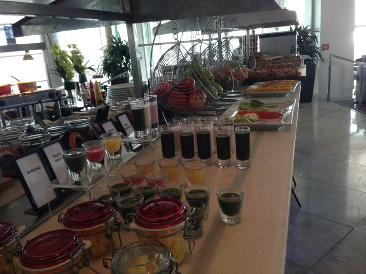 Breakfast in Fish Restaurant at the Hilton Auckland, New Zealand