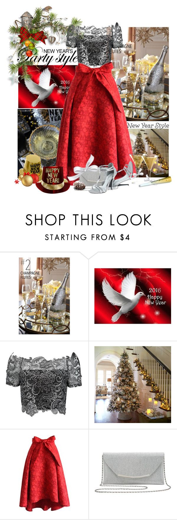 """""""Happy New Year  Dear Friends"""" by flowerchild805 on Polyvore featuring Chicwish and M&Co"""