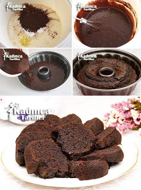 Çaylı Kakaolu Kek Tarifi