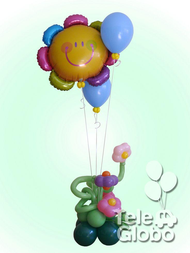 Ramo de globos de helio floral