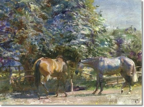 Alfred J Munnings - AJM - Before The Flies Come - Approximate Original Size - 18x24 Painting