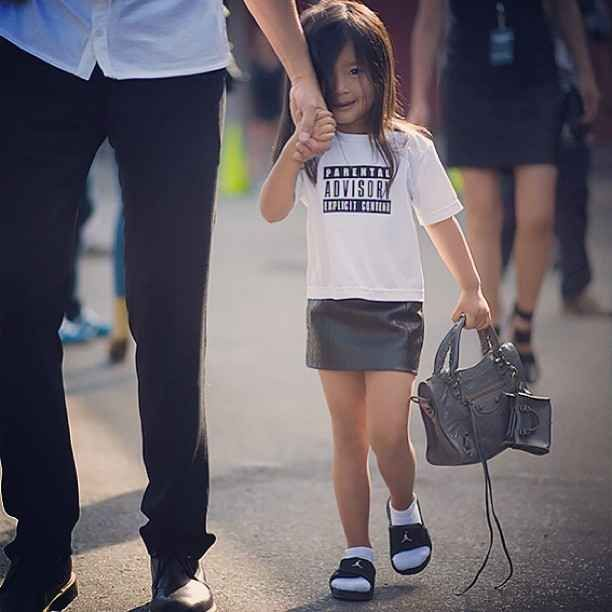 The always fashionable Alia Wang (niece of Alexander Wang). | The 16 Cutest Kids Spotted At New York Fashion Week