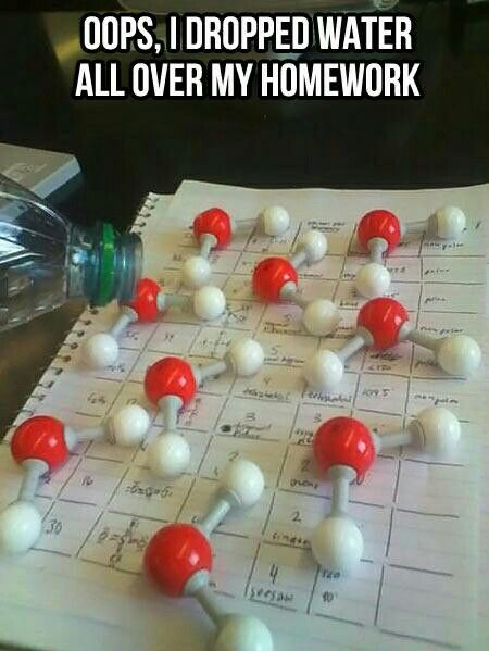 I wonder if I'd be excused from homework if I did this and showed it to my chemistry teacher.