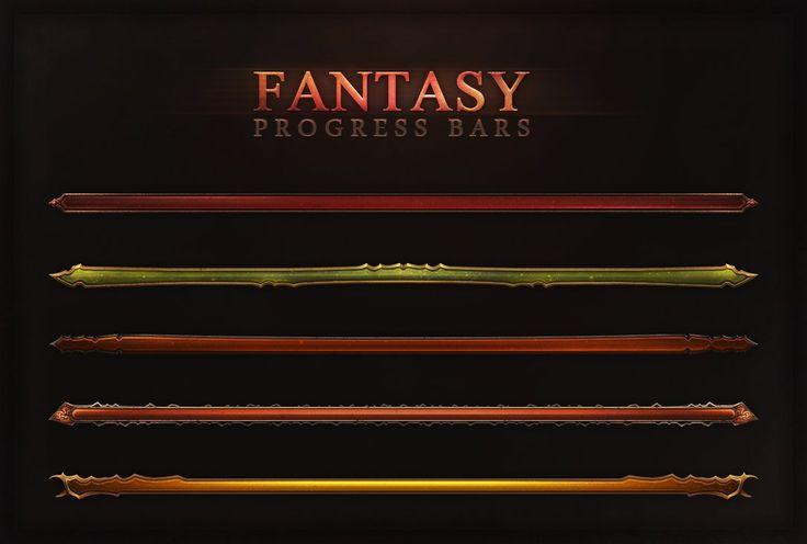 Fantasy Progress Bars by Evil-S