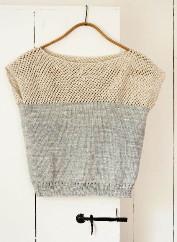 Laura's Loop: Cap Sleeve Lattice Top - The Purl Bee - Knitting Crochet Sewing Embroidery Crafts Patterns and Ideas!