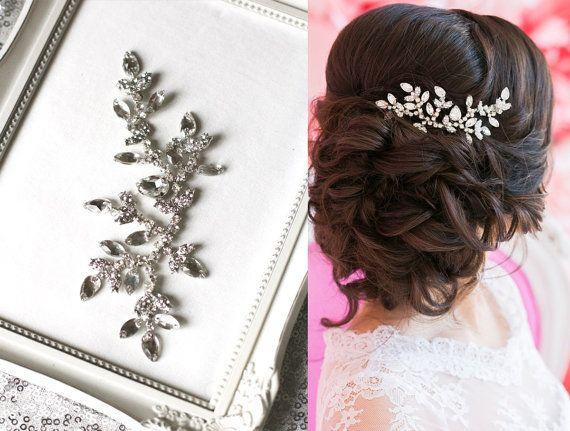 Wedding Headpiece Bridal Headpiece Bridal Hair by EnzeBridal