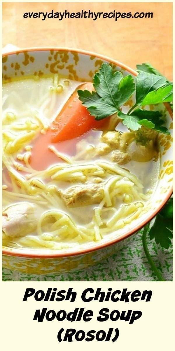 This nourishing Polish chicken soup (rosol) is a traditional recipe, the perfect…