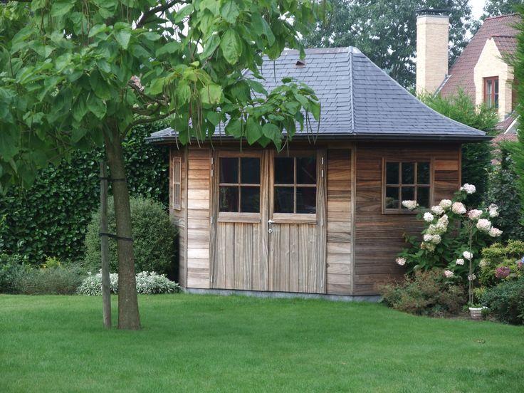Cottage tuinhuis tuinhuis met leien tuinhuis landelijke stijl ontwerp door tuinhuisjes - Ontwerp tuinhuis ...