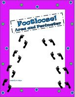 Sunday Surprise: Footloose Freebie!  This Footloose game includes 30 question cards that require students to: calculate area and perimeter of rectangles: find missing sides; find perimeter when given area and a side length; compare areas and perimeters of rectangles.