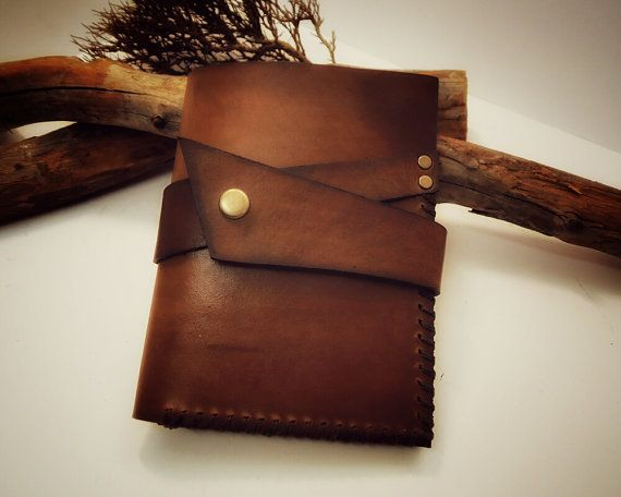 Leather journal cover moleskine notes by VakalisCreations on Etsy