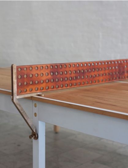 BDDW leather and bronze ping pong table