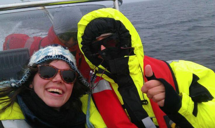 On a RIB boat, on the way to the Træna music  festival. #Kystriksveien #Træna #Trænafestivalen #Helgeland www.kystriksveien.no