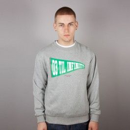 KING APPAREL CREW INFINITY GREY HEATHER - Sale £35