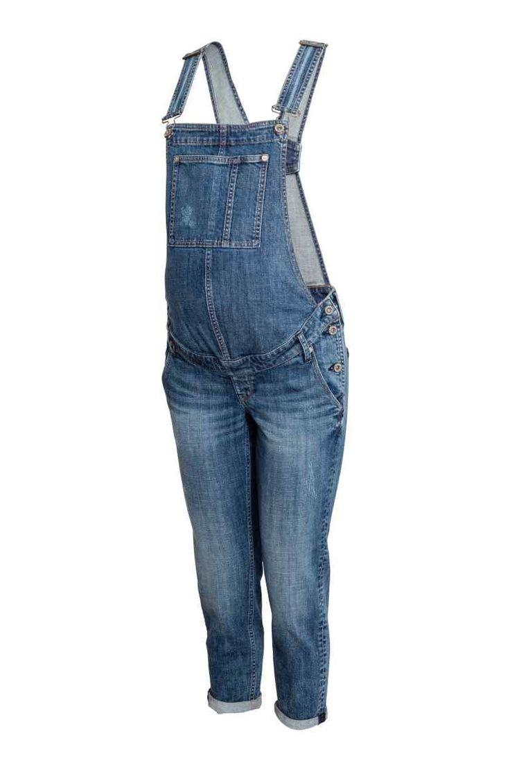 MAMA Spodnie ogrodniczki - Niebieski denim - ONA | H&M PL 1