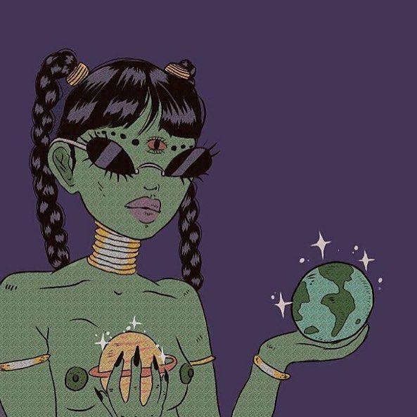More of Illustratons by Bape.Ril, see more at graveravens.col #art #artwork #illustration #badass #baperil #style #instaart #design #mixedmedia #artpublication #artpublishing #digitalart #graveravens #alien #dope