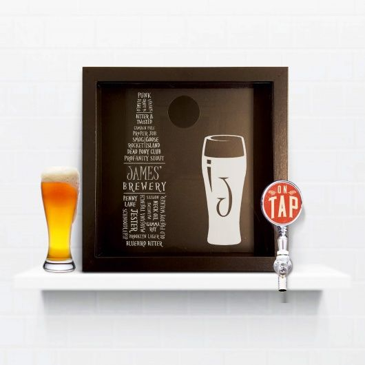 Beer Cap Typography Keepsake Box.  Great and unsusual gift for someone who loves to keep their unusual beer caps.