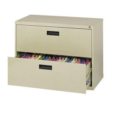 """400 Series Lateral File Cabinets Size / Color: 53"""" H x 30"""" W x 18"""" D / Primary Green by Sandusky Cabinets. $408.99. E204L-A8 Size / Color: 53"""" H x 30"""" W x 18"""" D / Primary Green Features: -Lateral file cabinet.-100pct drawer extension on genuine progressive telescoping ball-bearing slides provide smooth trouble free operation.-Built-in drawer interlock system prevents more than one drawer from opening at a time, reducing the chance of cabinet tip over.-Single lock system sec..."""
