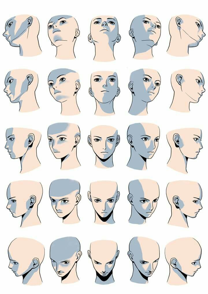 Face Shade Multiple Angle Figure Drawing Reference Art Reference Photos Drawings