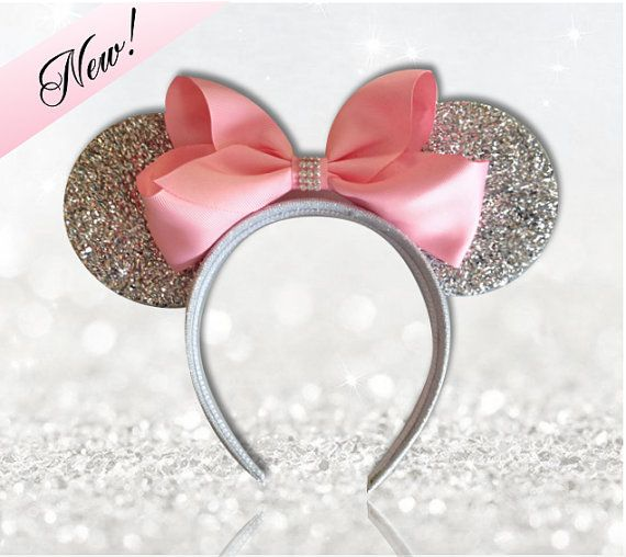 Pink Princess Minnie Mouse Ears Headband With by EnchantedDust