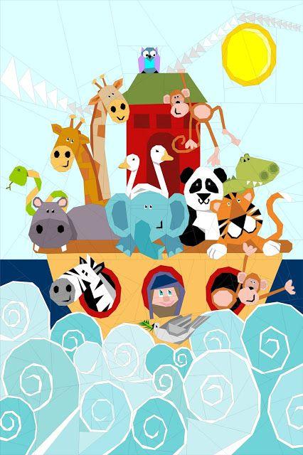 Noah's Ark by Quilt Art Designs - paper pieced quilt