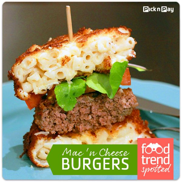 The Mac Attack burger, with a bun made of deep fried macaroni cheese, caused such a stir in Chicago it made TV news. Here's how to make your own! #picknpay #freshliving