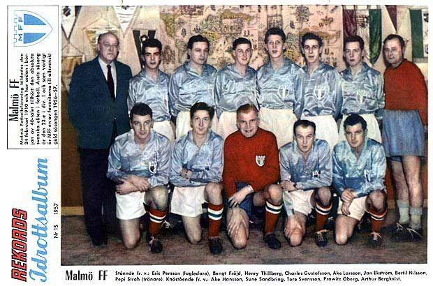 Glansig tröja. #MalmöFF #1957