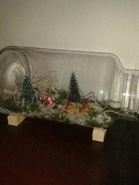 """Miniatuur kerst stukje met vaas van de """"action"""""""