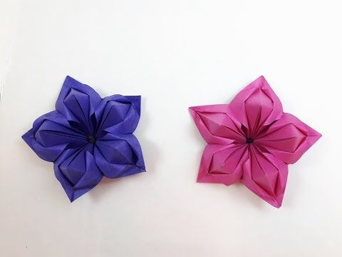 275 best origami images on pinterest paper flowers origami paper origami flower time lapse youtube mightylinksfo