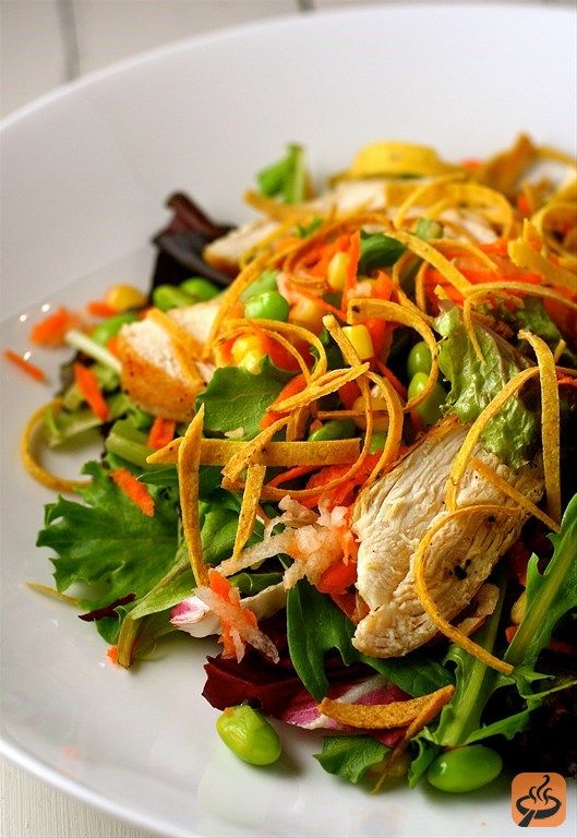 Oriental crispy chicken salad recipe