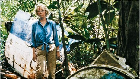 "Juliane Koepcke was flying over the Peruvian rainforest with her mother when her plane was hit by lightning. She survived a two-mile fall and found herself alone in the jungle, just 17. ""After about 10 minutes, I saw a very bright light on the outer engine on the left. My mother said very calmly: ""That is the end, it's all over."" Those were the last words I ever heard from her."""