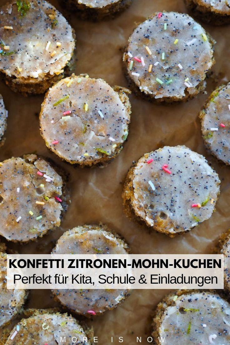 Ein Traum Von Einem Konfetti Zitronen Mohn Kuchen Im Scheinwerferlicht Lebensmittel Essen Birkenzucker Kuchen