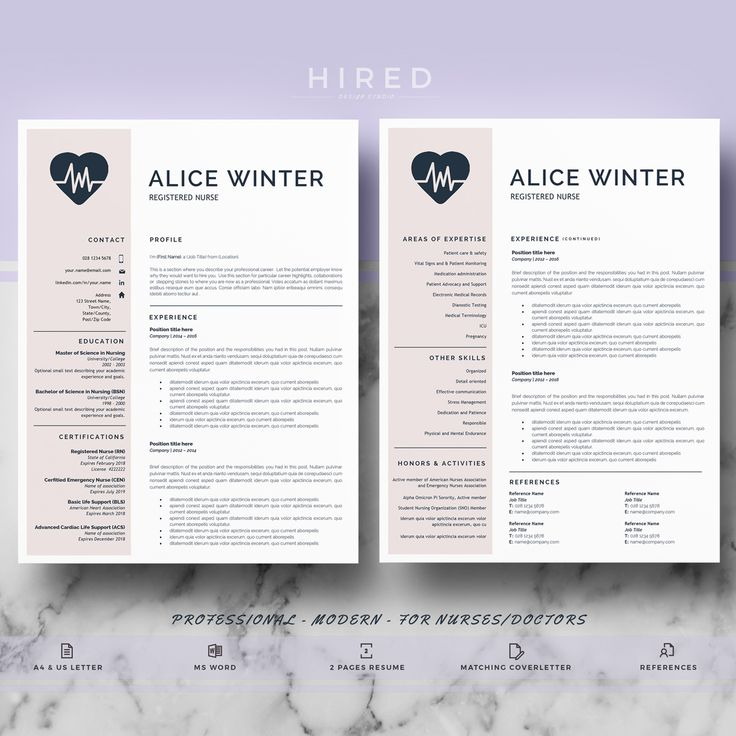 21 best Nurse Resume Templates images on Pinterest Cv resume - resume template rn