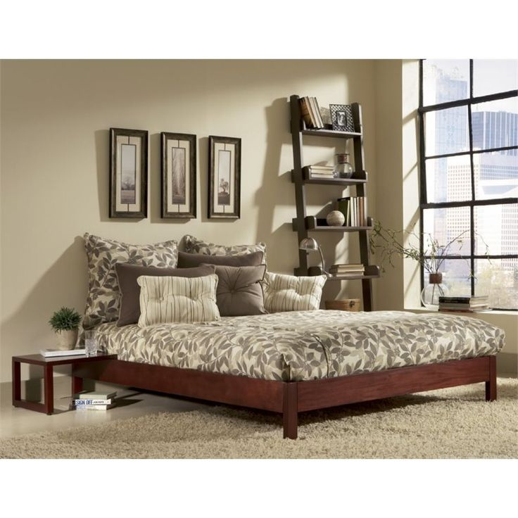Lowest price online on all Fashion Bed Murray Modern Platform Bed in Mahogany - B5108X