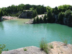 Elora Gorge Conservation Area in Ontario.  Very beautiful area. This is the quarry.