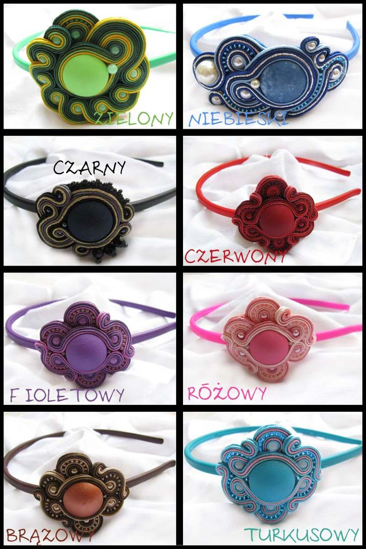 hair bands soutache sutasz by GosiaBizu.deviantart.com on @deviantART