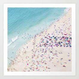 popular blue photography Art Print   Society6