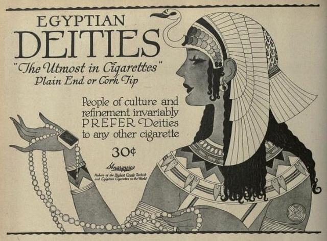 Vintage Advert for Egyptian Deities Cigarettes - Nov 1919 by CharmaineZoe, via Flickr