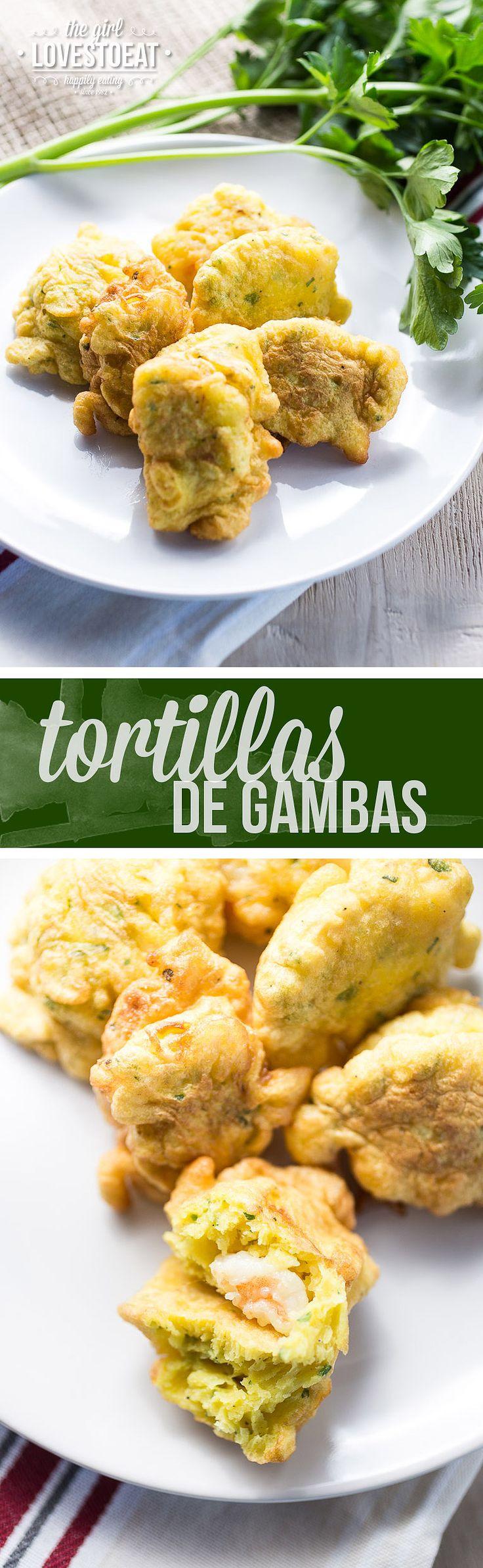 Tortillas de gambas - Spanish shrimp fritters {thegirllovestoeat.com}