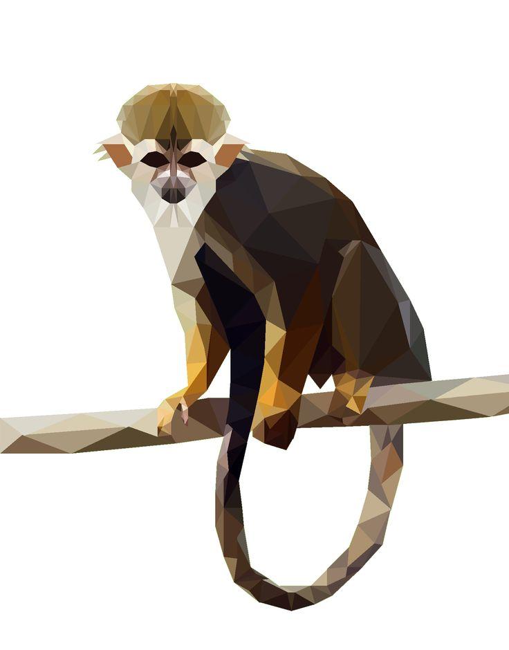 Polygon Art, Monkey