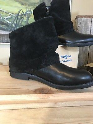 Emu Australia Heysen Black Suede Leather Ankle Boots Size 7    eBay