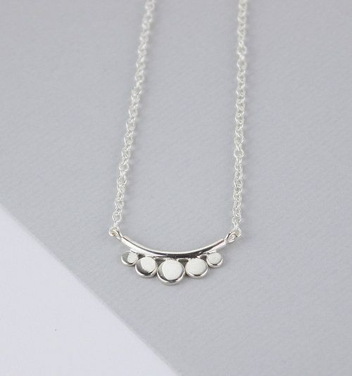 Sterling silver tribal inspired necklace. Short silver necklace. Gifts that give back. 5% of the profits of all sales are donated to the refugee charity CalAid