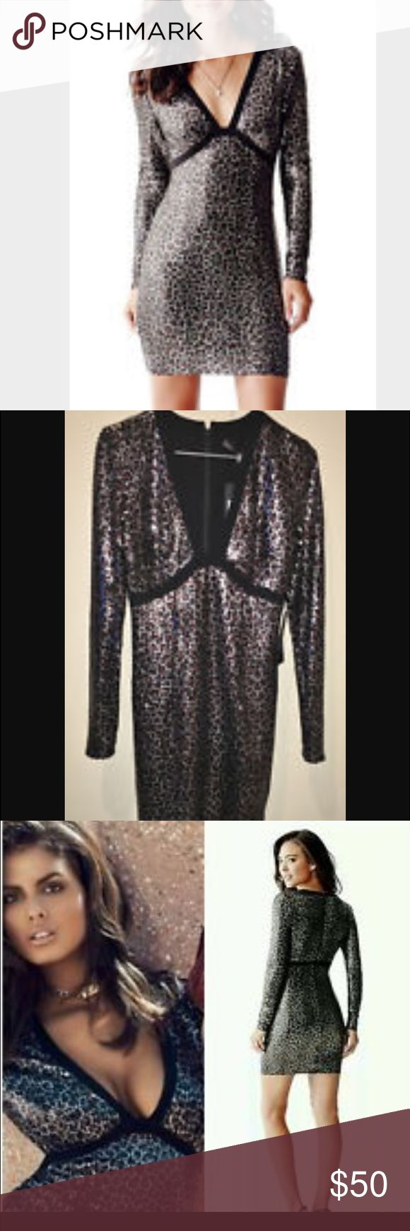 Sexy Guess Sequin dress. Very sexy Guess animal print sequin dress. Used only once. Guess Dresses Mini