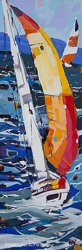 Rick Bond, 'Windward Sails', 12'' x 36'' | Galerie d'art - Au P'tit Bonheur - Art Gallery